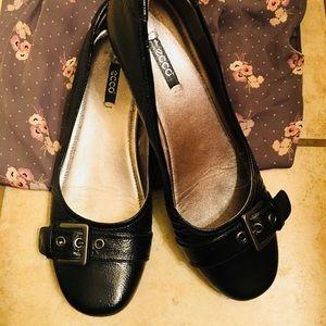 🌟Ecco Patent Leather bouillon buckle slip on🌟